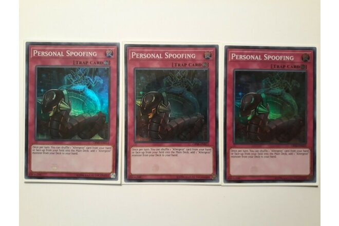 Yugioh | 3x | Personal Spoofing | OP09 | Unlimited Edition | Super Rare | NM