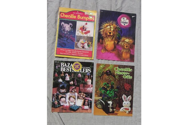 4 BK Chenille Crafting Bumpies Animals Fantasy Fur Holiday Bazaar Fundraisers