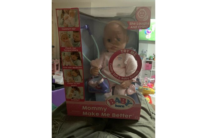 Baby Born Mommy Make Me Better Doll, Blue Eyes, New