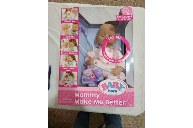 New Baby Born Mommy Make Me Better Doll, Blue Eyes, New
