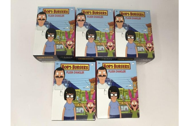 Lot of 5 Bullsitoy Bob's Burgers Plush Dangler New Sealed Blind Boxes