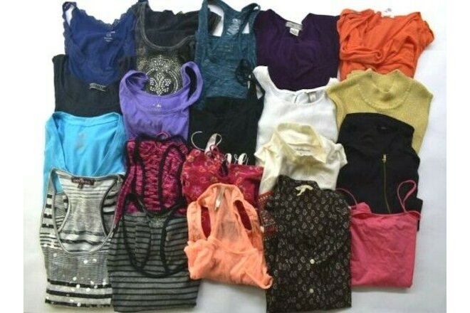 Wholesale Bulk Lot of 20 Womens Large Sleeveless Summer Tops Blouses Shirts Mix