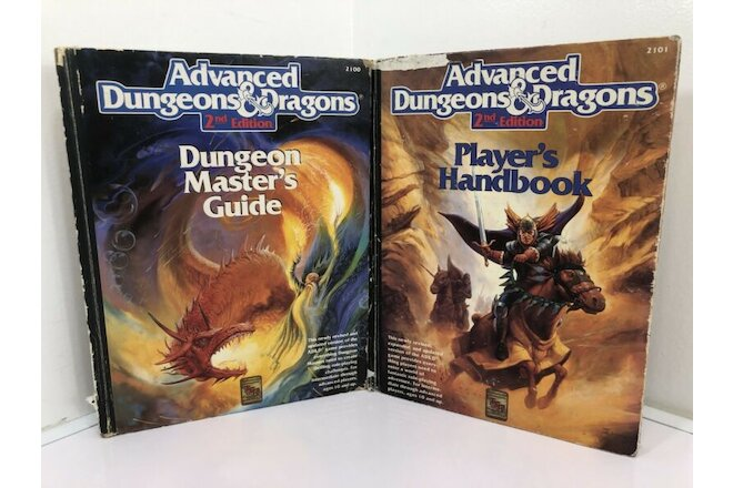 Advanced Dungeons and Dragons 2nd Edition Player's Handbook /Dungeon Master 1989