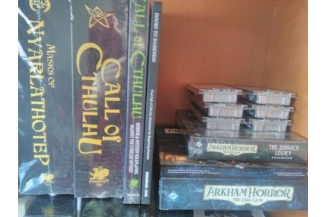 Arkham Horror LCG core + Dunwich Legacy complete expansion ( sealed )