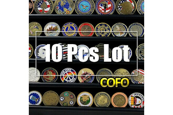 Lot Of 10 Random Theme Military Sport Feature Culture Challenge Coin Wholesale