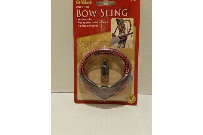 ALLEN Checker Bow Wrist Sling - Red -Leather Yoke - 6626 - Lot of 2
