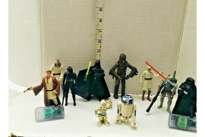 "COLLECTIBLE SET OF 10 STAR WARS FIGURES  @ 4"" INCHES TALL"