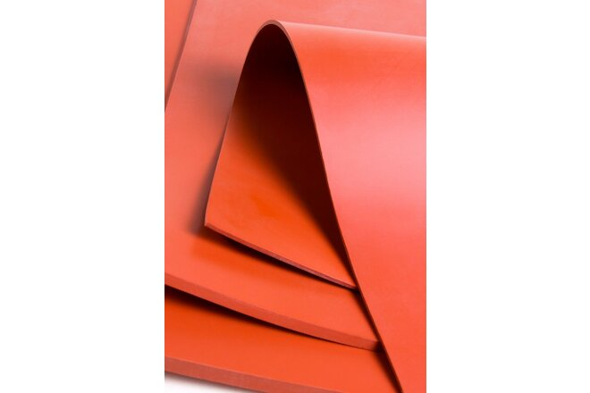 "Commercial Grade Silicone- 50 Duro-  3/16 (.187)- Pack of (4) 6""x6"" sheets"