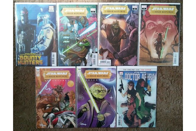 Star Wars Bounty Hunters High Republic Adventures #1 1:10 NM lot of 7
