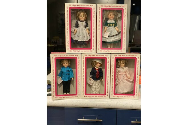 "Shirley Temple 12"" Ideal Dolls 1982 Lot of (5) includes Sailor, Stowaway"