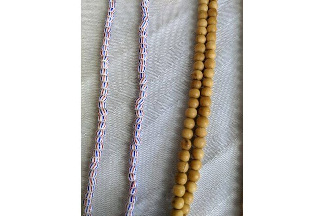 Native Ghost Beads Necklaces multiple and other beaded necklace lot