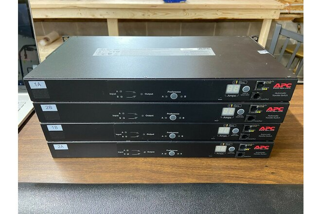 APC	AP7721 Automatic Transfer Switch w/ Rackmount Ears