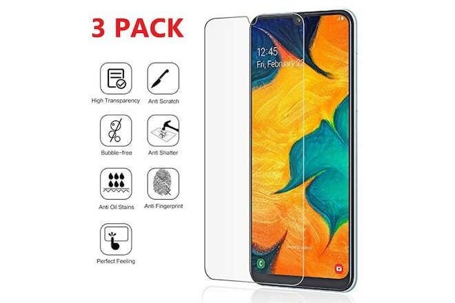 3-Pack Tempered Glass Clear HD Screen Protector  For Samsung Galaxy A10e A10E