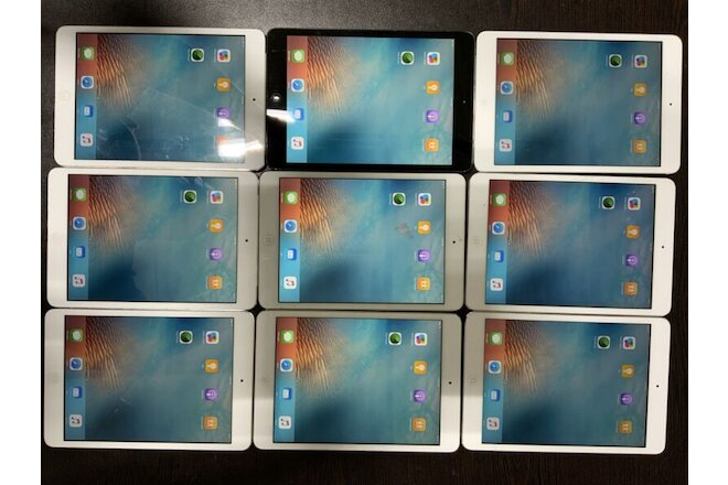 Lot of 9 Apple iPad mini 1, 16GB, Cellular & Wi-Fi - Condition as per pic 217