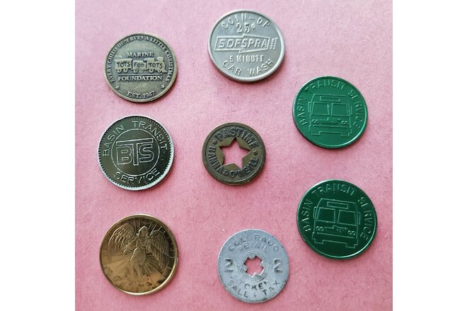 Token Collection.  Various States and Types - Set of 8