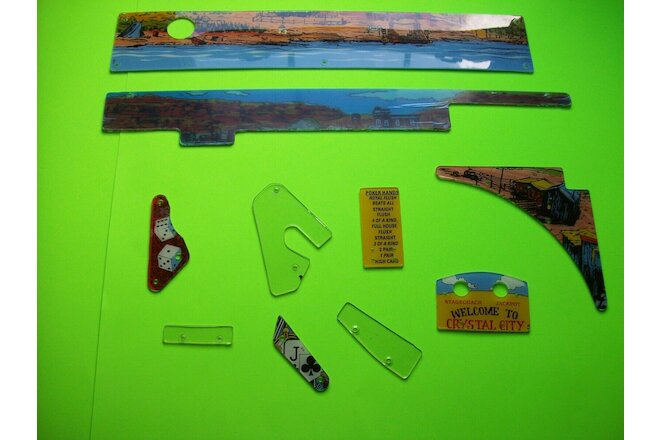 Maverick Data East Pinball Machine Original Playfield Plastics Shields Lot Of 10