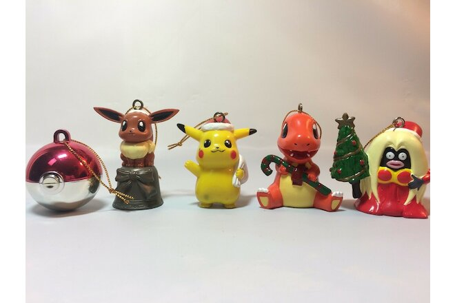 Pokemon Christmas Ornaments Figures Pikachu Charmander Jynx Eevee Xmas