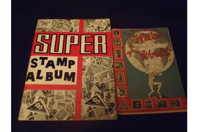 1960's Super Stamp Album & The Atlas Stamp Album of the World