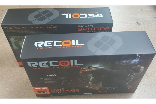 Set of 2 Recoil RK-45 Spitfire Recoil Weapon Laser Tag Game Weapons Only New Box