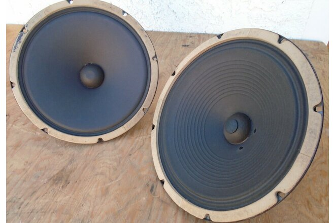 "MATCHED ROLA (CELESTION) 12"" AlNiCo GUITAR HARP KEYBOARD MUSICAL SPEAKER PAIR"
