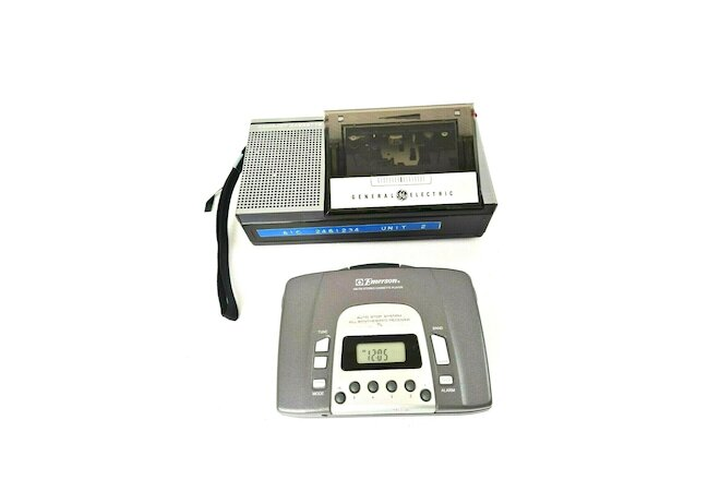 Lot General Electric Cassette Recorder 3-5300 And Emerson Cassette Player Used