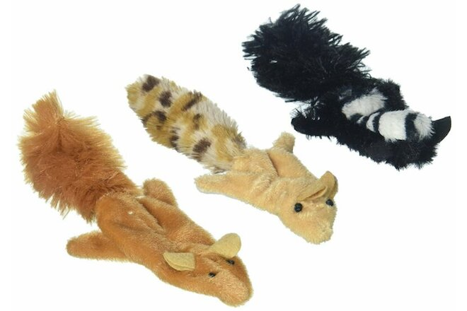 Ethical Pet Spot Skinneeez Forest Creature 3in Assorted Catnip Cat Toy - 4 Pack