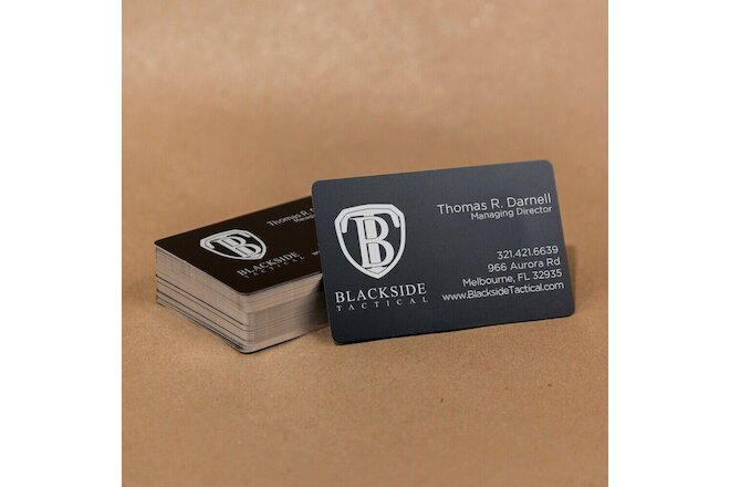 100 Black Anodized Aluminum Business Card Blanks Laser Engraving Sheet Metal