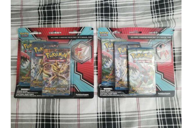 Brand New Pokemon XY BREAKpoint Mega Gyarados and Mega Scizor Pin Blister Set