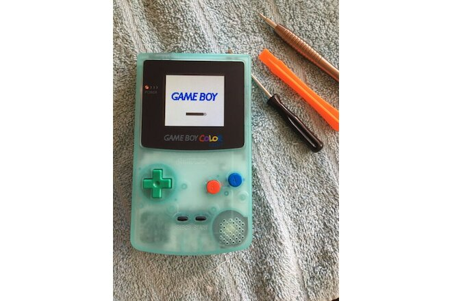 IPS Backlit Glow In The Dark Nintendo Gameboy Color GBC Stuart Little Cartridge