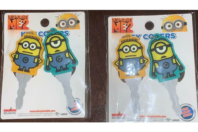 Despicable Me 2 Movie 2 pieces per pack Minions Key covers - 1 lot of 2 packs