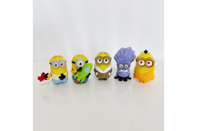 5 x Minions McDonald's Despicable Me Toys Bundle Lot