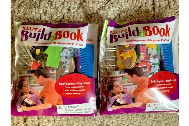 *NEW* Klutz Build a Book - 2 sets!