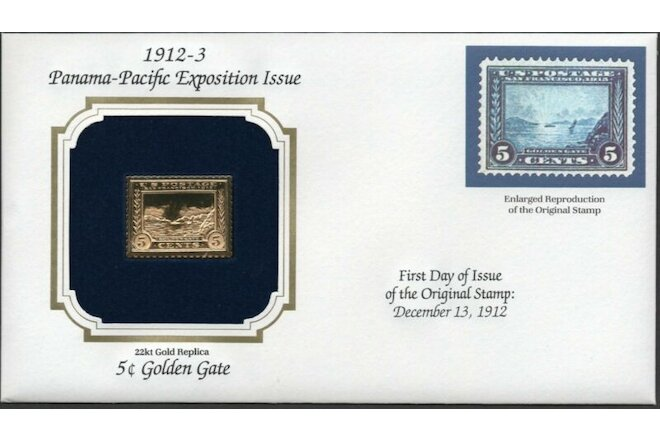 1912-3 Panama-Pacific Exp Issue U.S Golden Replicas of Classic Stamps. Set of 4
