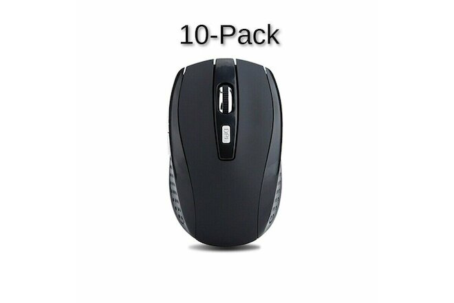 10x Lot Wireless Mouse Optical USB Laptop PC Computer 2.4GHZ Black DPI Mice Pack