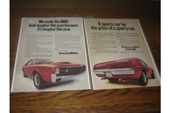 1970 AMX AMC American Motors Page Ads (2)