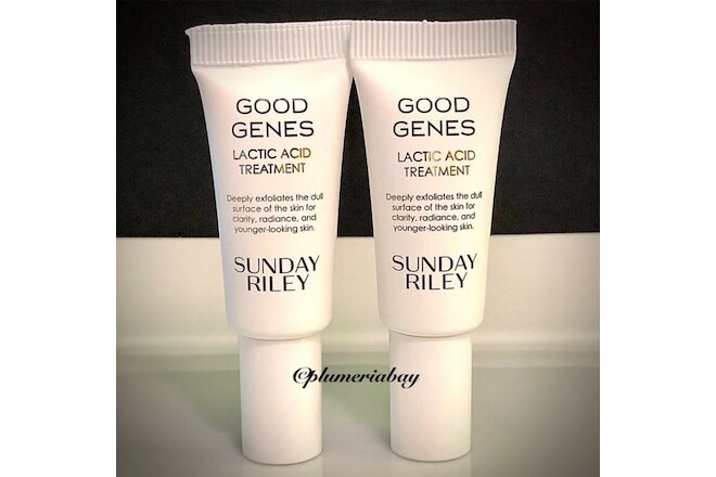 2x SUNDAY RILEY Good Genes All-In-One LACTIC ACID TREATMENT 5ml/0.17oz TRAVEL