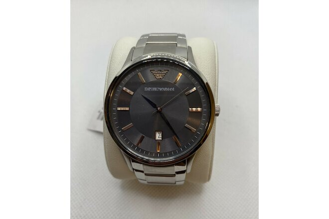 NEW Emporio Armani Renato Stainless Steel Gray Dial Men's Watch AR11179 $245
