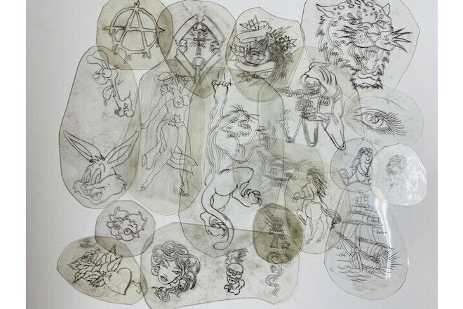 Acetate Stencil Original Bert Grimms tattoo  vintage lot 20
