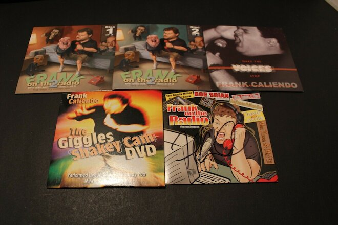 Lot Of 5 FRANK CALIENDO CD's And DVD AUTOGRAPHED COPY Frank On The Radio- Comedy