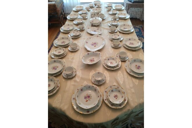 Warwick 12 piece beautiful estate china set