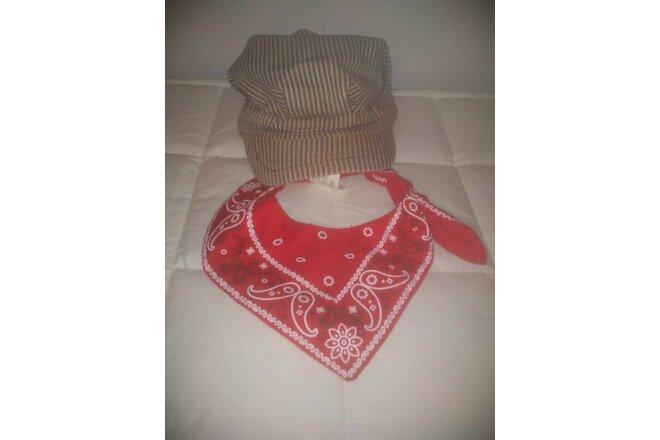 Junior Child Train Engineer Set Hat Bandanna Railroad Dress Up Costume