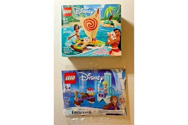LEGO Disney Princess 43170 Moana's Ocean Adventure + 30553 Elsa's Winter Throne