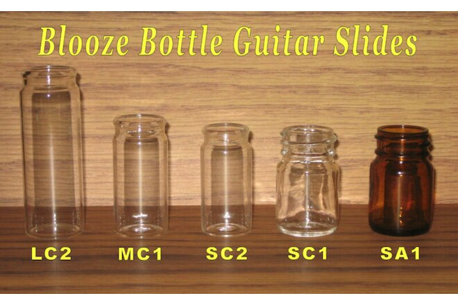 Blooze Bottle Glass Guitar Slides - 5 Slide Sampler - New - Great Tone