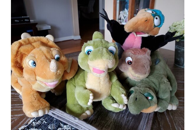 1988 THE LAND BEFORE TIME Vintage Plush Collection Set of 5