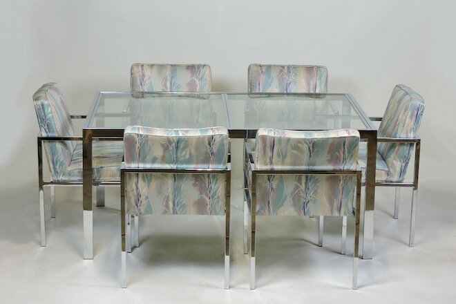 Six Design Institute of America DIA Mid Century Modern Chrome Dining Chairs
