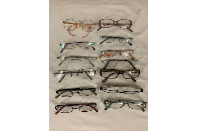 EYEGLASSES LOT 13 UNITS, NEW, TIMBERLAND, SAKS 5 AV, OATE, LIZ CLAIBORNE, TRENDY