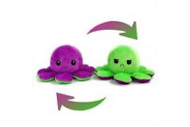 Autumn-Wind Reversible Flip Pillow Octopus Stuffed Plush Cute Toys Soft Doll
