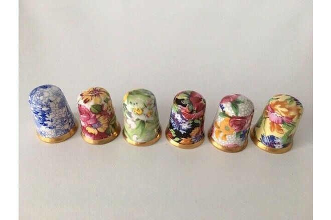 Royal Winton Thimble Collection