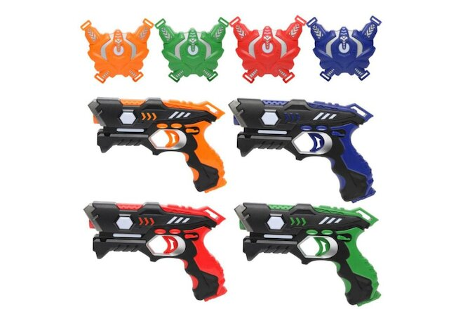 4 Pack Infrared Laser Tag Guns Blaster and Vests Battle Toy Set For Kids Adults
