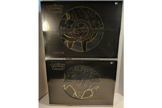 POKEMON TCG -ELITE TRAINER BOX PLUS ZACIAN AND ZAMAZENTA SET OF 2 FACTORY SEALED
